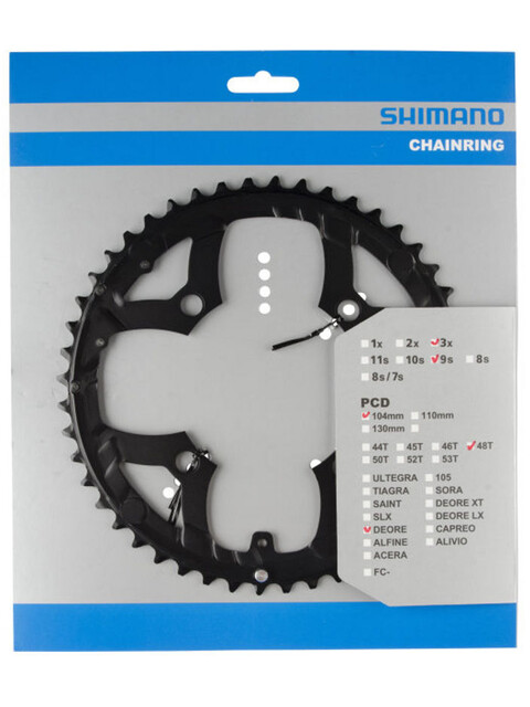 Shimano Deore FC-M530 Kettenblatt 9-fach schwarz
